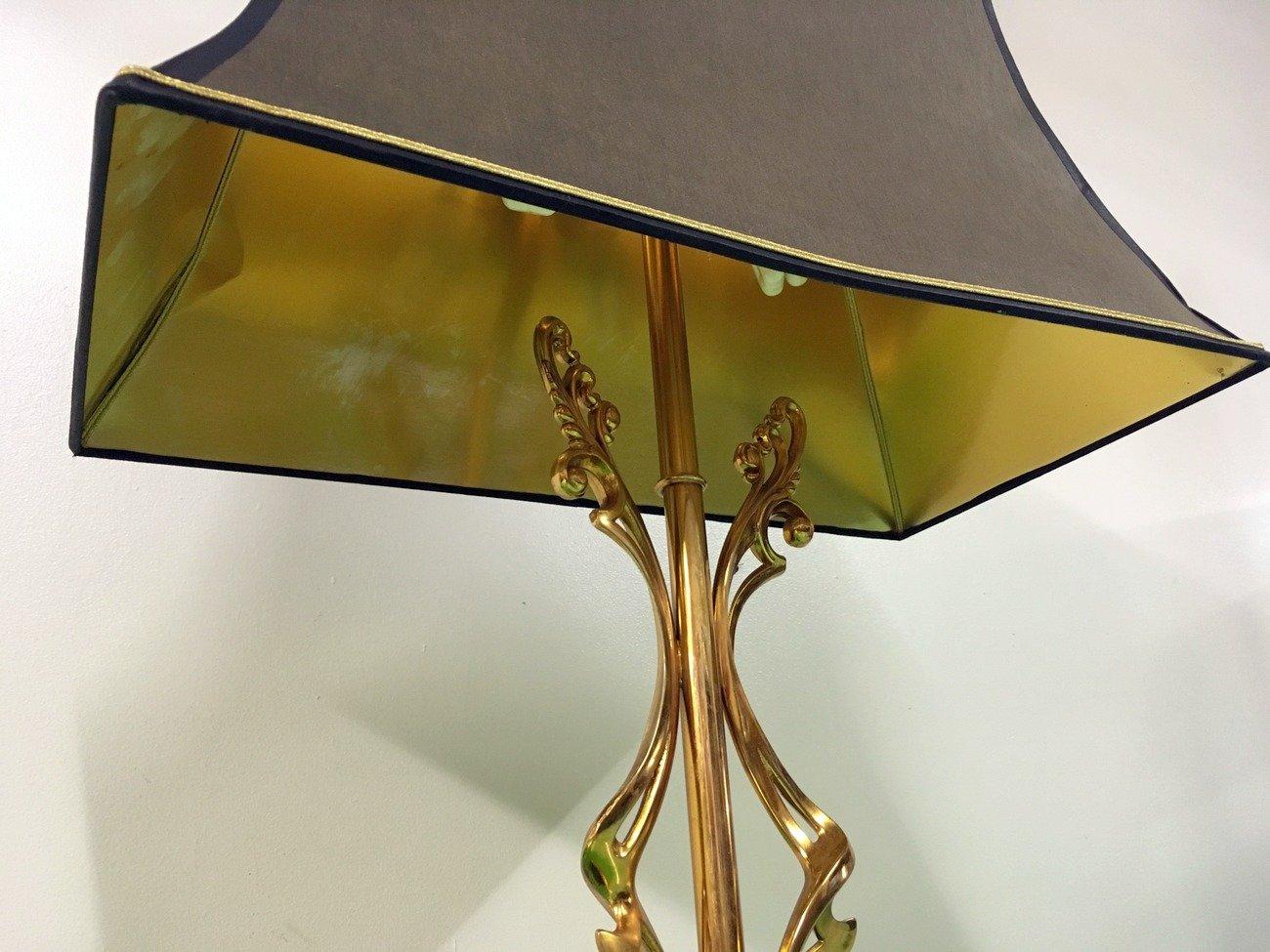 abstrakte messing lampe mit marmor sockel bei pamono kaufen. Black Bedroom Furniture Sets. Home Design Ideas