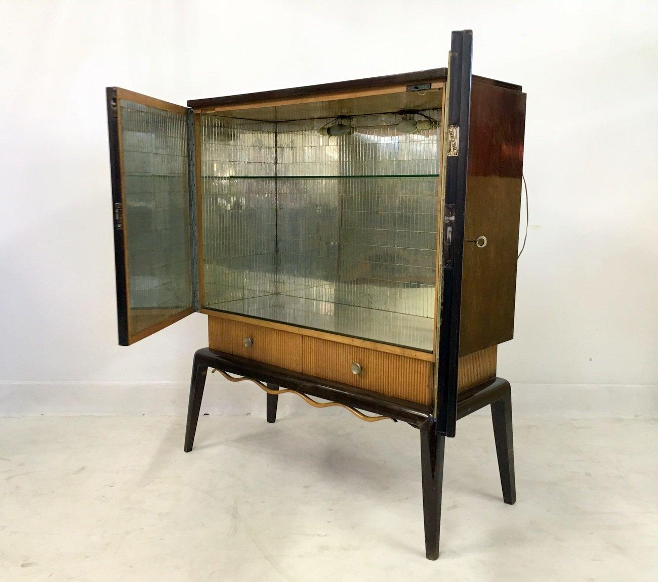 vintage barschrank mit geriffelten schubladen bei pamono. Black Bedroom Furniture Sets. Home Design Ideas