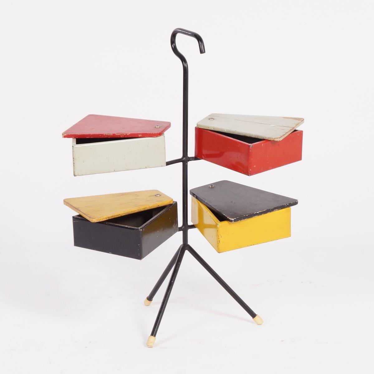 Bo te couture par joost teders pour metalux 1950s en for Boite a couture originale