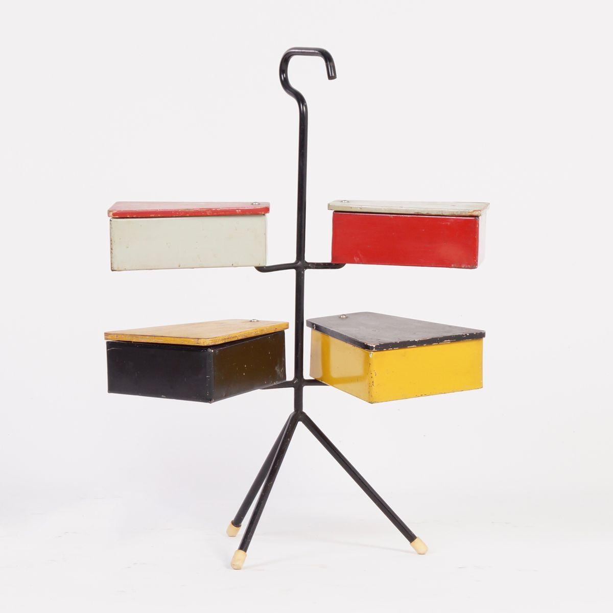bo te couture par joost teders pour metalux 1950s en. Black Bedroom Furniture Sets. Home Design Ideas