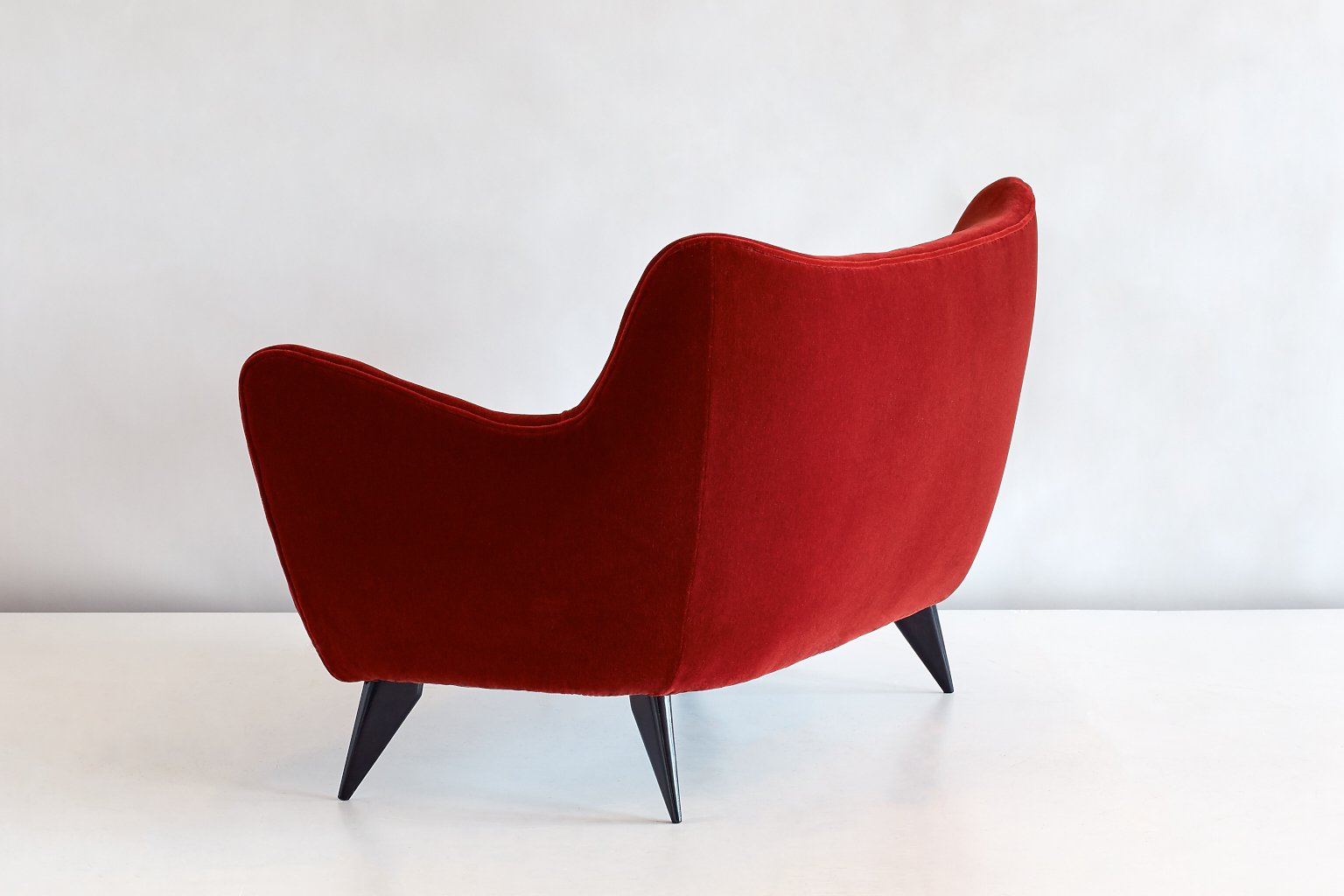 red mohair velvet perla sofa by giulia veronesi for isa berg