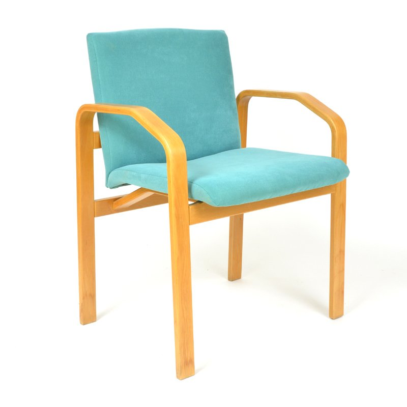 Vintage turquoise dining chairs set of 4 for sale at pamono - Turquoise upholstered dining chair ...