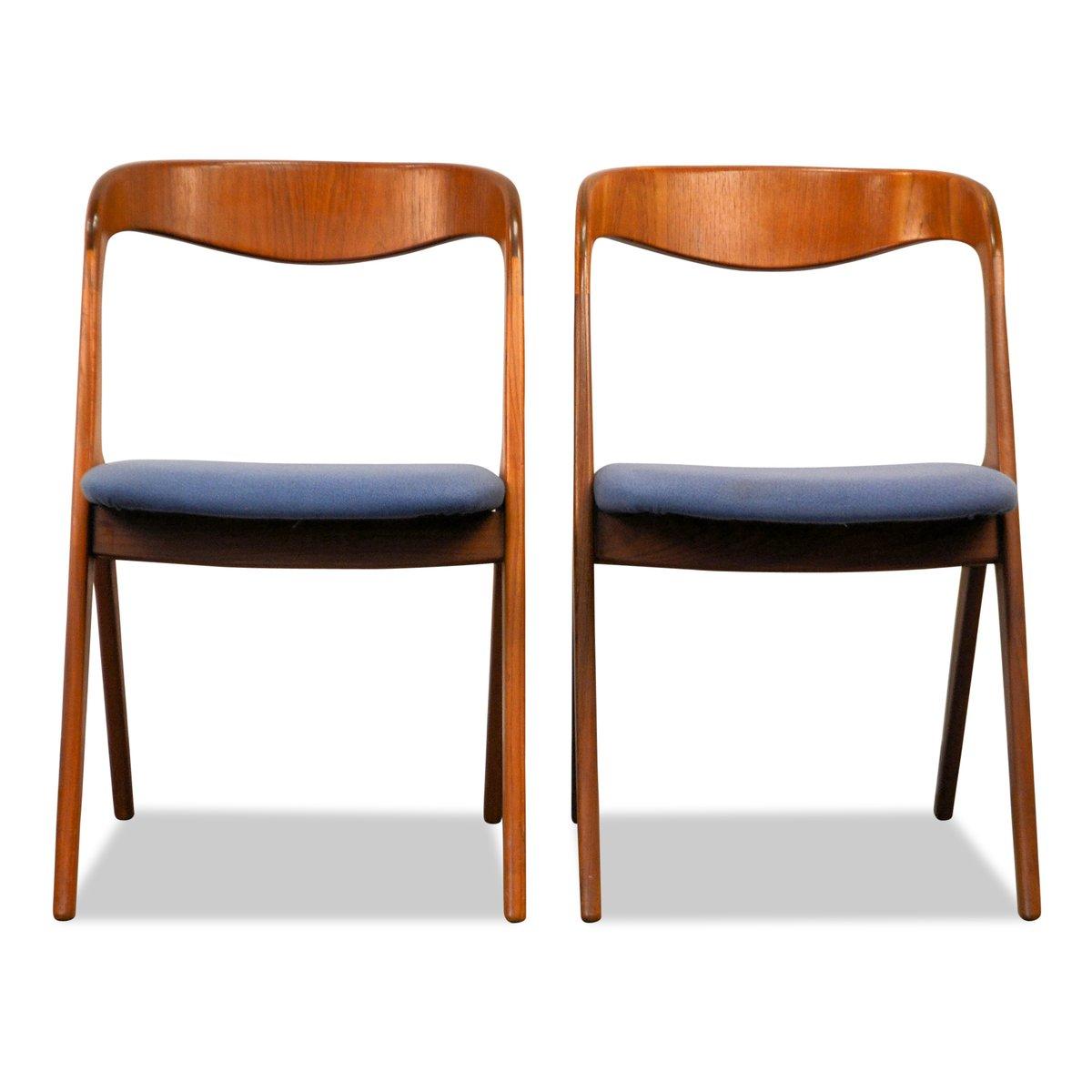 d nische teak st hle von vamo m belfabrik 2er set bei pamono kaufen. Black Bedroom Furniture Sets. Home Design Ideas