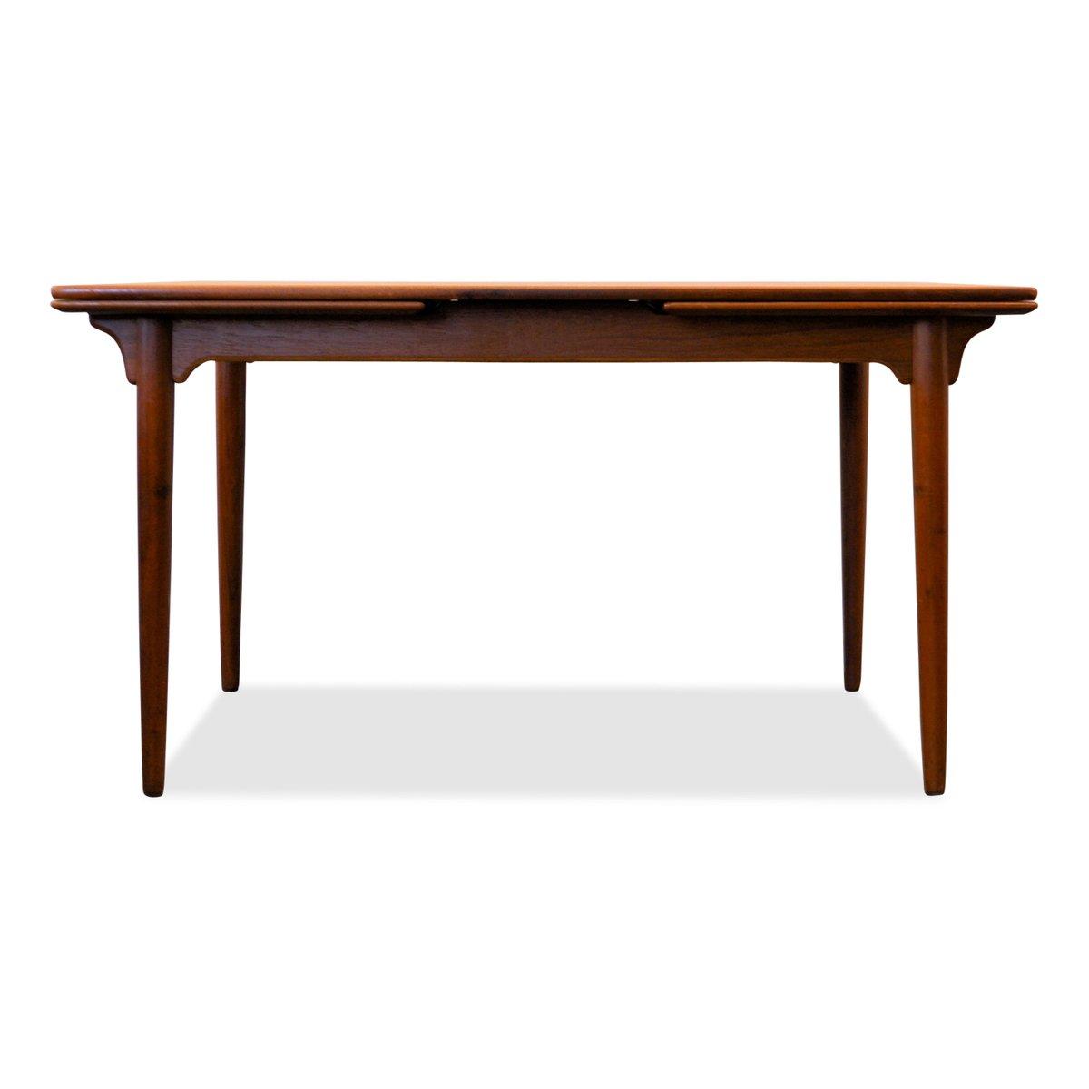 Danish Teak Extendable Dining Table from Omann Juns  : danish teak extendable dining table from omann juns mobelfabrik 1960s 1 from www.pamono.com size 1200 x 1200 jpeg 33kB