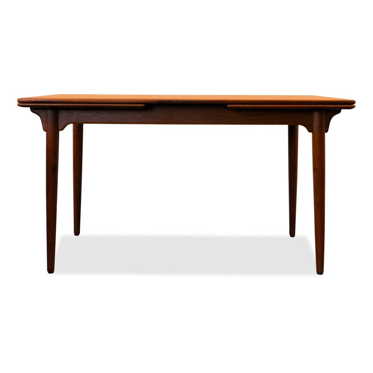 Danish Teak Extendable Dining Table by Gunni Omann for  : danish teak extendable dining table by gunni omann for omann juns mobelfabrik 1960s 2 from www.pamono.com size 1200 x 1200 jpeg 33kB