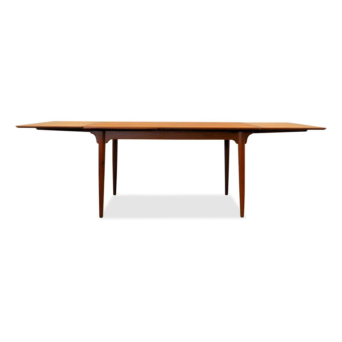 Danish Teak Extendable Dining Table from Omann Juns  : danish teak extendable dining table from omann juns mobelfabrik 1960s 9 from www.pamono.eu size 1200 x 1200 jpeg 22kB