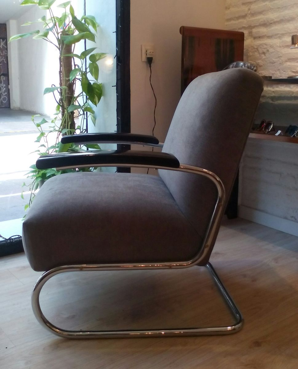 bauhaus s411 armchair by michael thonet for thonet 1930s for sale at pamono. Black Bedroom Furniture Sets. Home Design Ideas