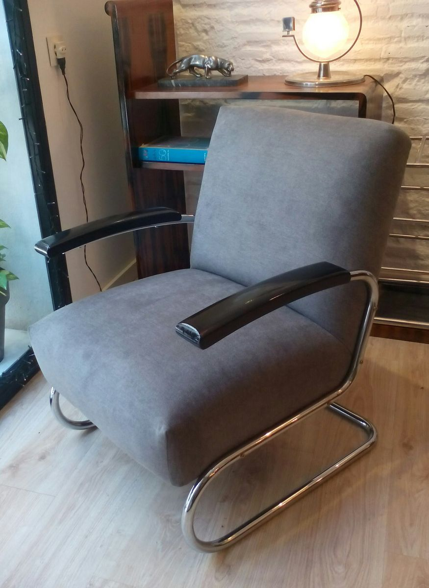 bauhaus s411 sessel von michael thonet f r thonet 1930er. Black Bedroom Furniture Sets. Home Design Ideas