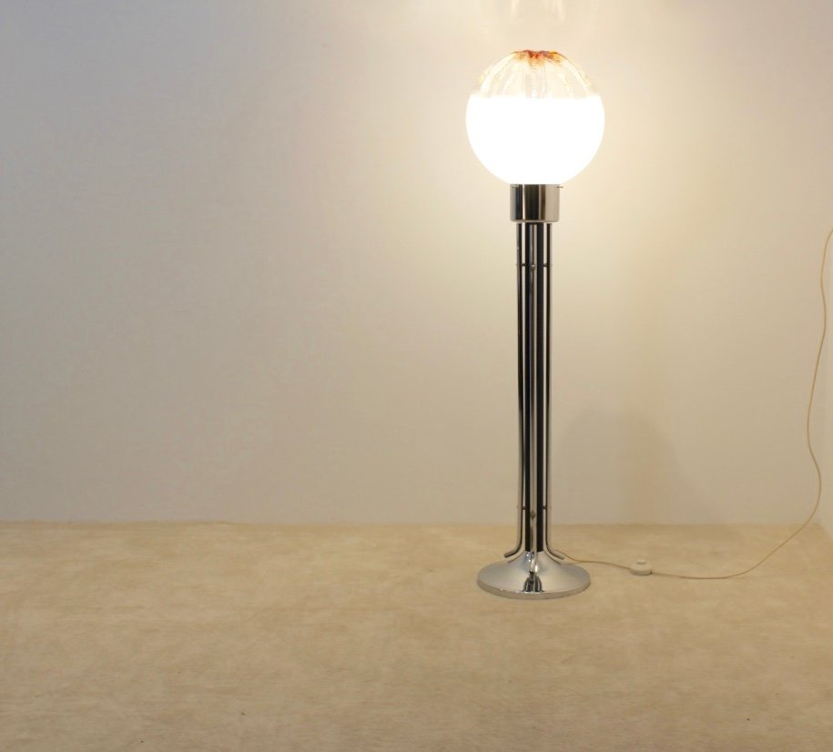 Italian glass floor lamp from mazzega 1970s for sale at for 1970s floor lamps