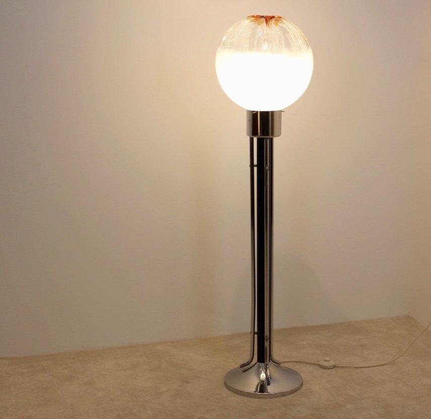 italienische glas stehlampe von mazzega 1970er bei pamono. Black Bedroom Furniture Sets. Home Design Ideas