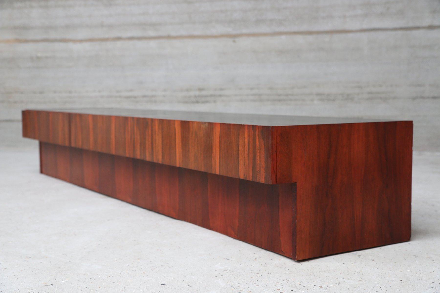 vintage belgian rosewood lowboard with black top for sale. Black Bedroom Furniture Sets. Home Design Ideas