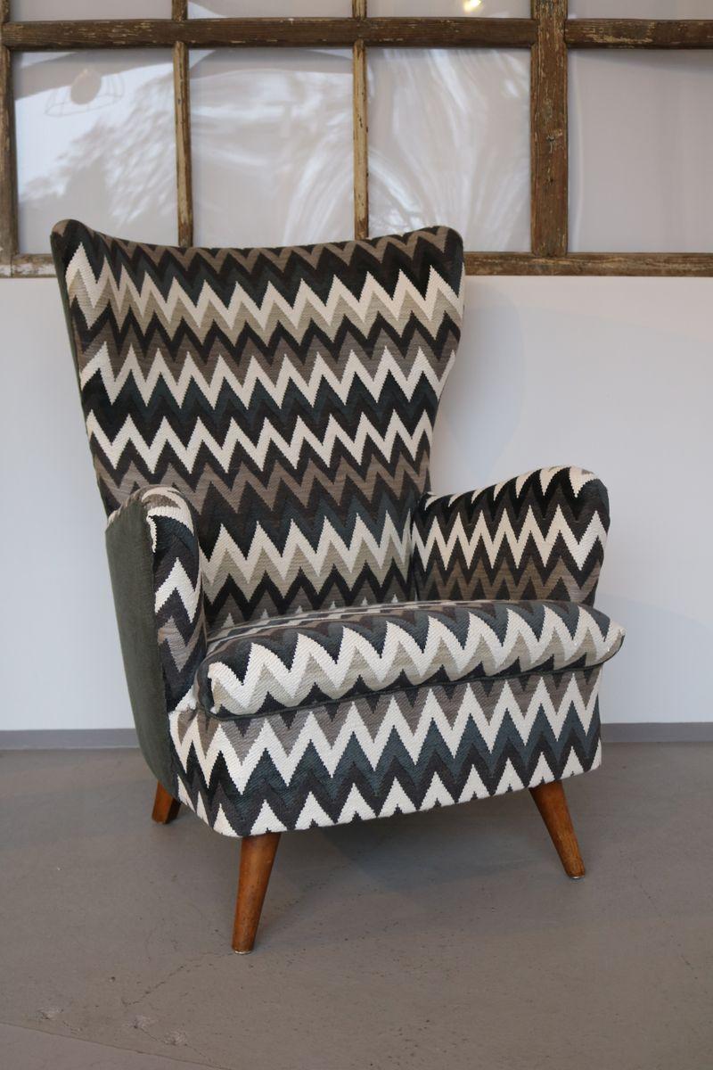 ohrensessel mit chivasso bezug 1950er bei pamono kaufen. Black Bedroom Furniture Sets. Home Design Ideas