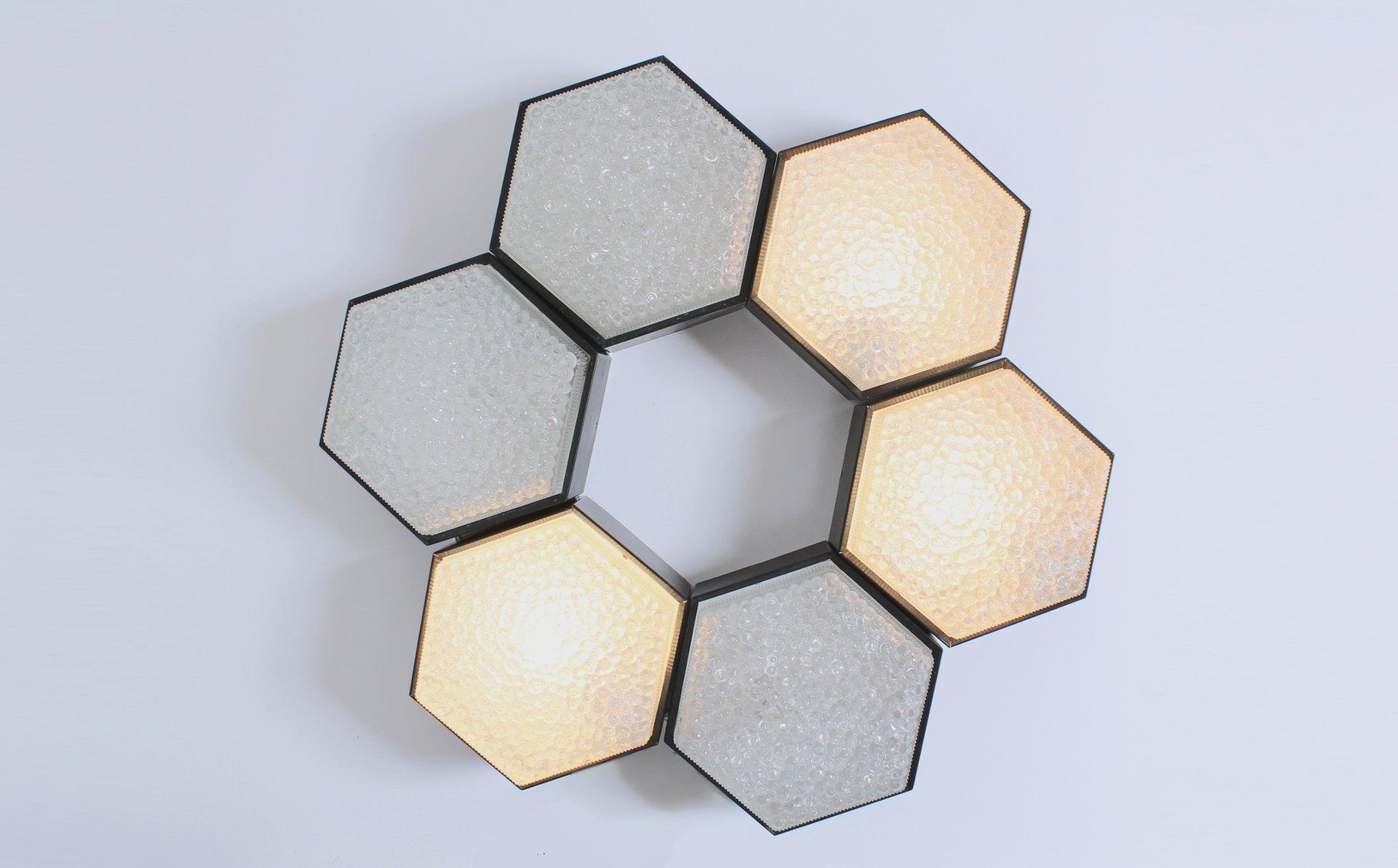 Sechseckige metall glas lampen mit schwarzem rand von for Lampen niederlande