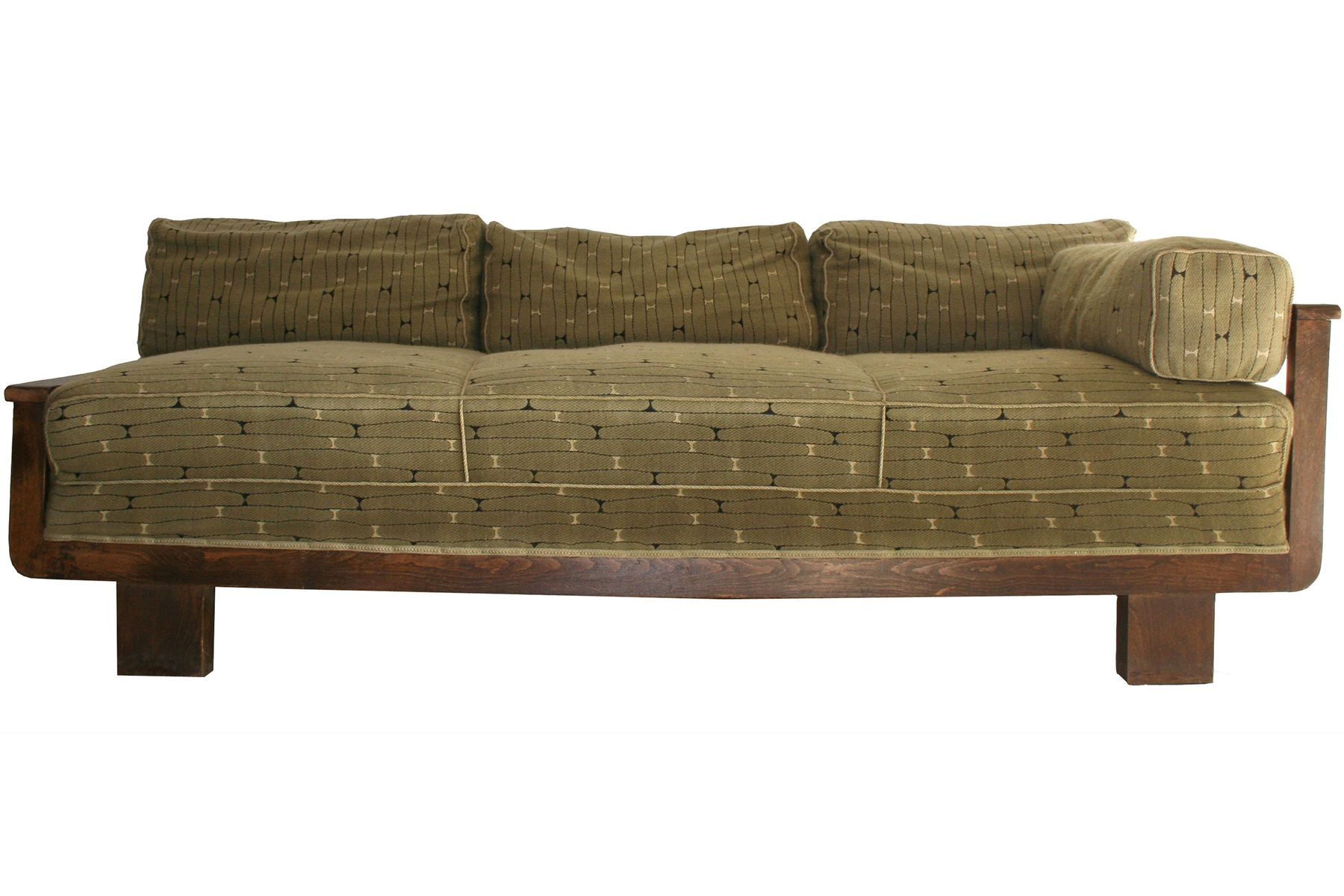 tschechisches mid century sofa aus dunklem holz 1950er. Black Bedroom Furniture Sets. Home Design Ideas
