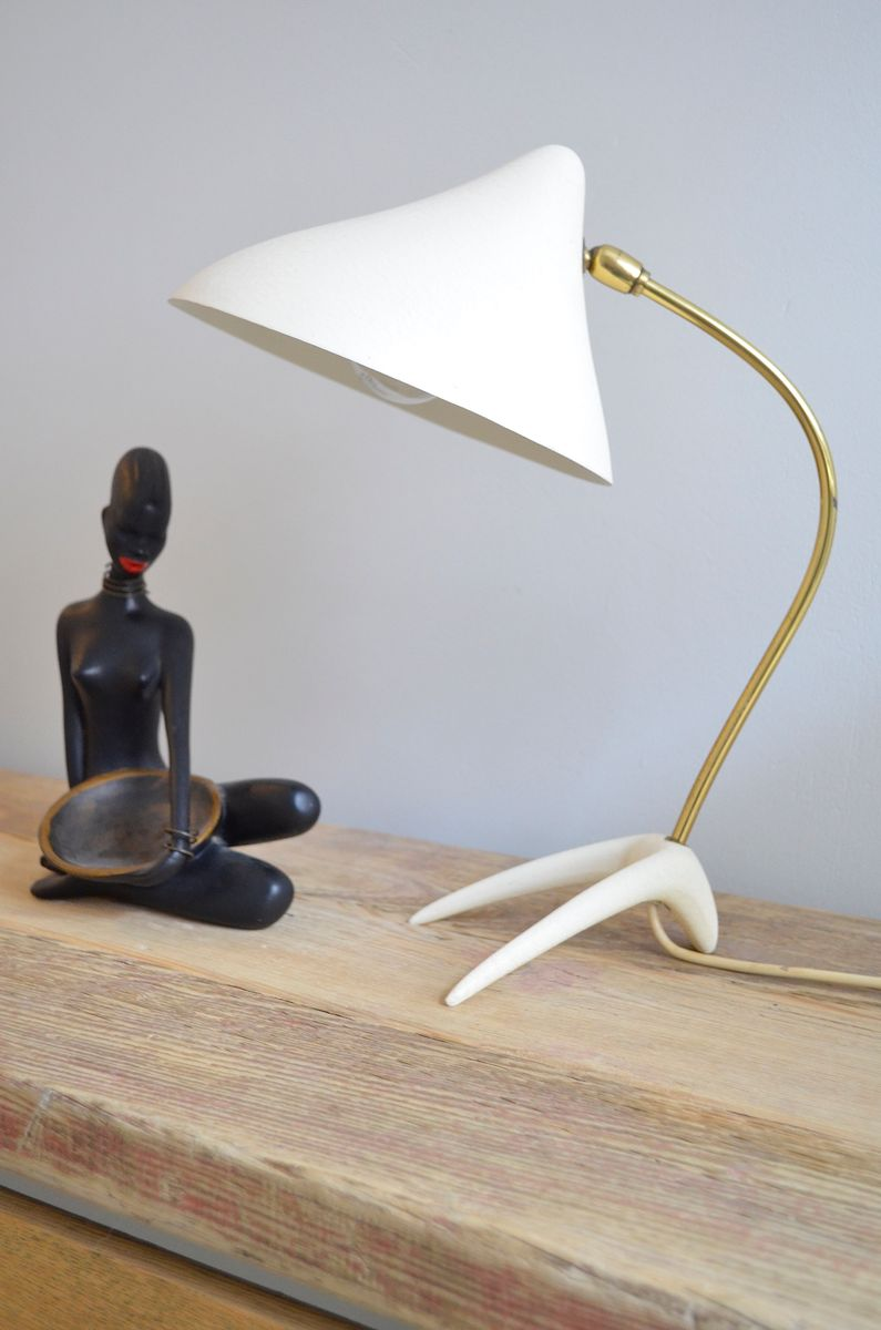 vintage kr henfu tischlampe von louis kalff f r philips bei pamono kaufen. Black Bedroom Furniture Sets. Home Design Ideas