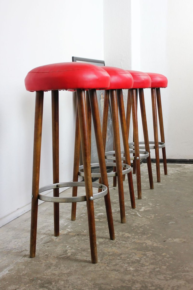 Souvent German Vintage Bar Stools, 1920s, Set of 2 for sale at Pamono XG46