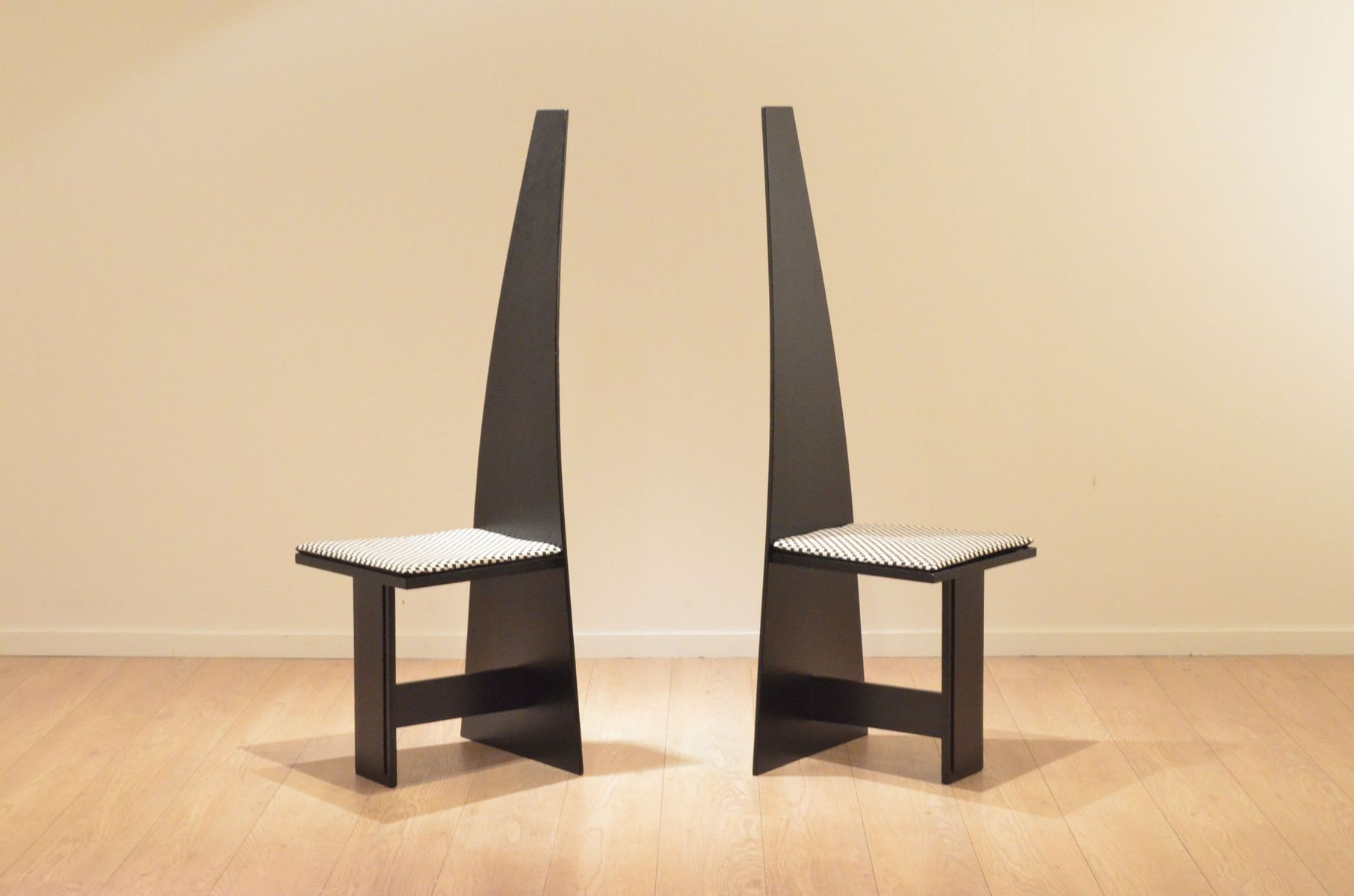 modernist chairs. modernist painted plywood hallway chairs, 1930s, set of 2 chairs w