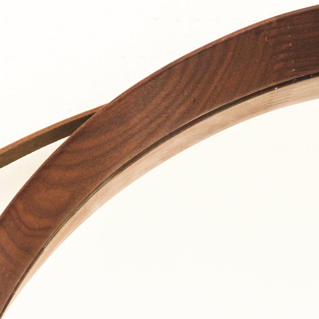 Miroir rond bois for Piscine miroir en anglais
