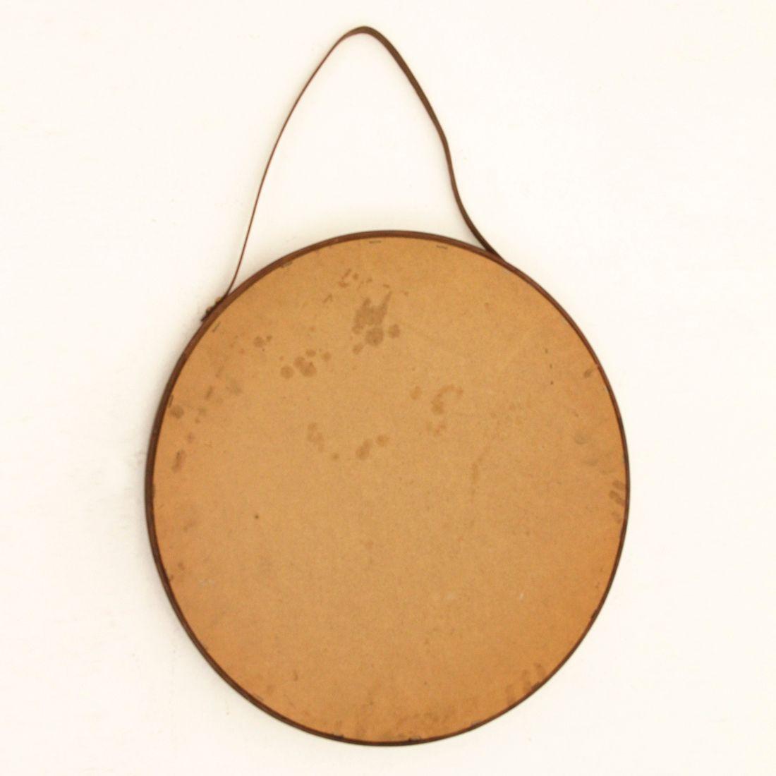 Miroir rond en bois courb italie 1960s en vente sur pamono for Miroir rond bois