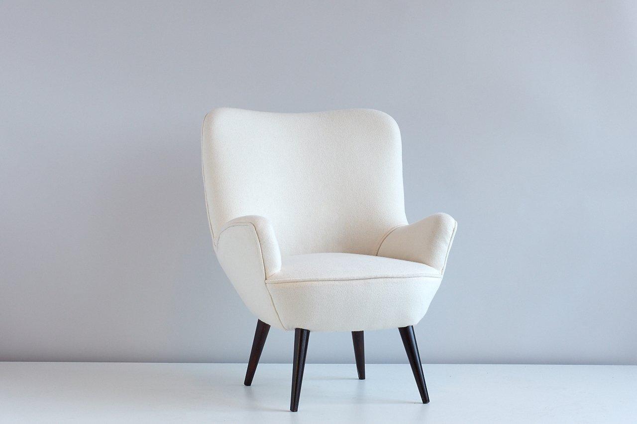 sessel mit kvadrat wollbezug von silvio cavatorta 1954. Black Bedroom Furniture Sets. Home Design Ideas