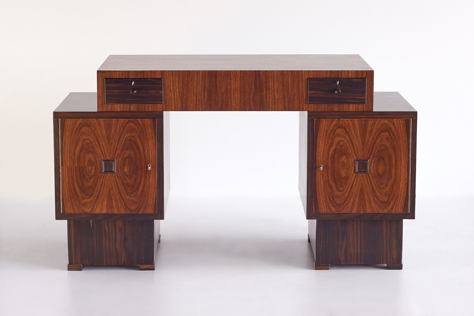 Art Deco Rosewood And Macassar Ebony Desk From U0027t Woonhuys Amsterdam, 1920s
