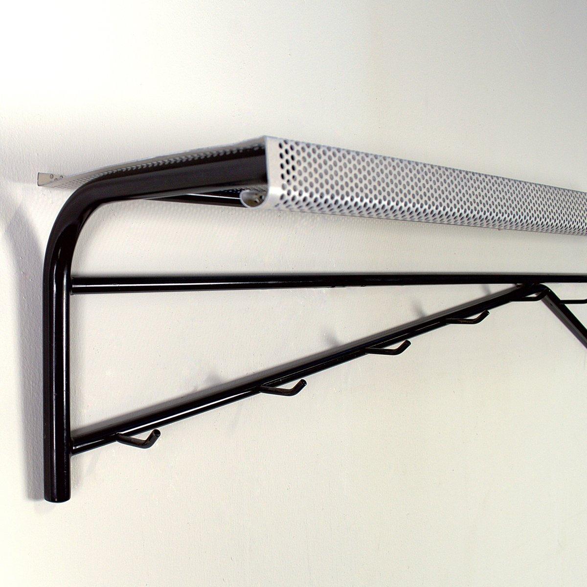 schwarz wei lackierte stahl garderobe 1960er bei pamono kaufen. Black Bedroom Furniture Sets. Home Design Ideas