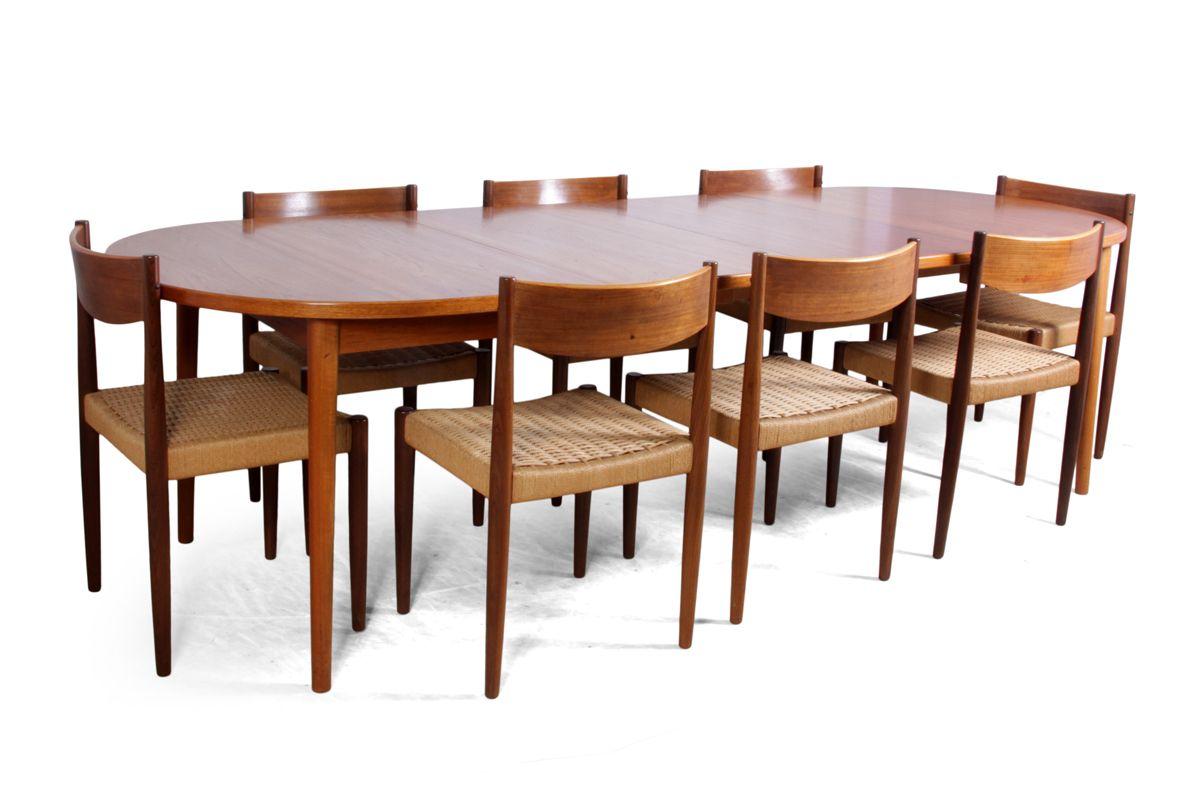 mid century teak esszimmer set von treods 1960er bei pamono kaufen. Black Bedroom Furniture Sets. Home Design Ideas