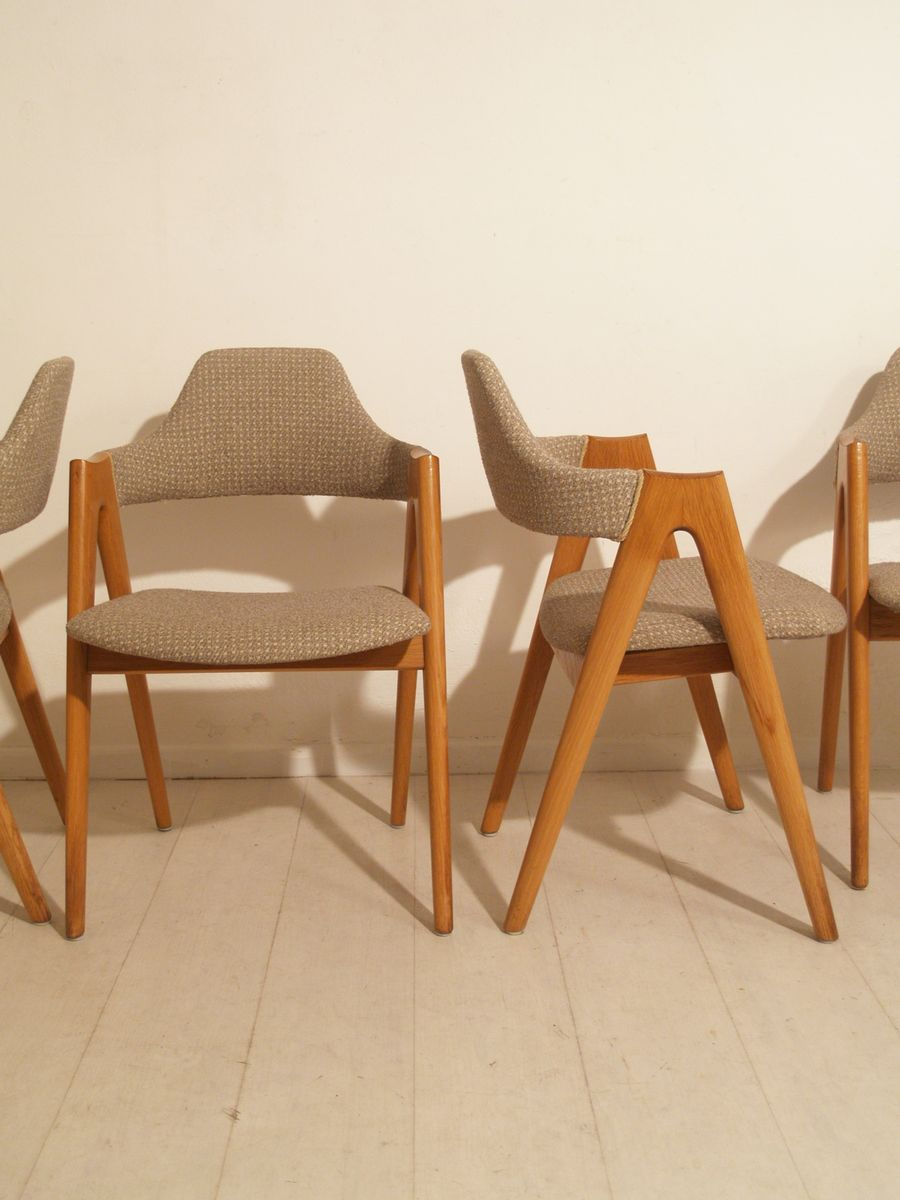 Danish Compass Chairs By Kai Kristiansen For Sva Mobler 1958 Set Of 4 For Sale At Pamono