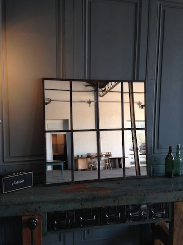 Miroir vintage industriel avec huit parties en vente sur for Miroir industriel solde