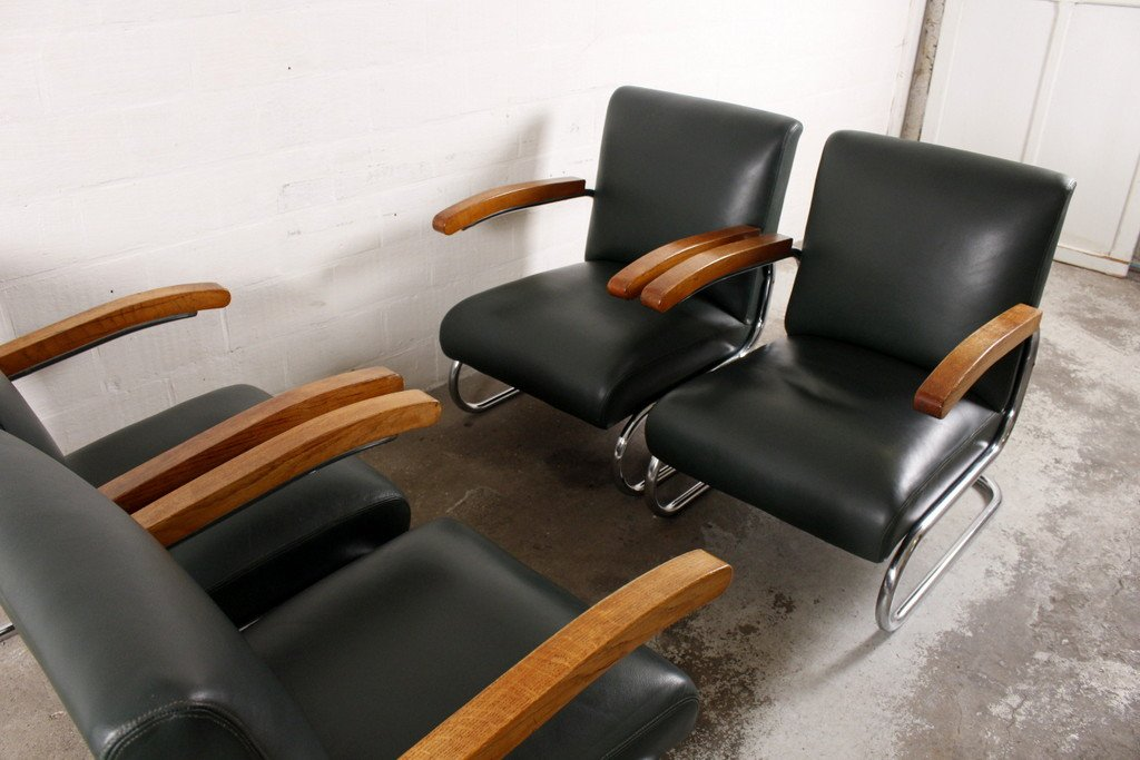 vintage s411 lounge chairs from thonet set of 4 for sale at pamono. Black Bedroom Furniture Sets. Home Design Ideas