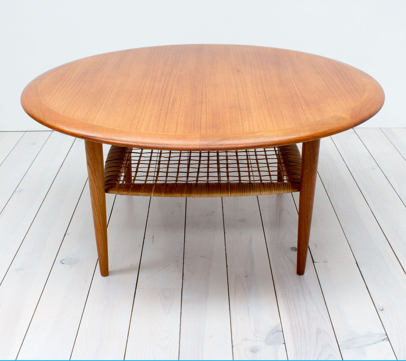 teak u0026 rattan coffee table by johannes andersen for cfc silkeborg 1960s for sale at pamono