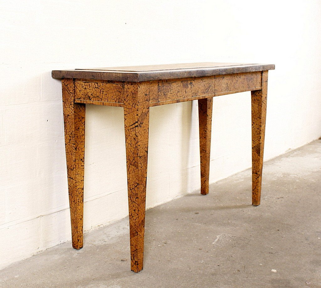 Vintage Side Table with Inlaid Wood for sale at Pamono
