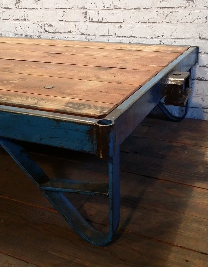 Industrial Coffee Table Cart For Sale At Pamono