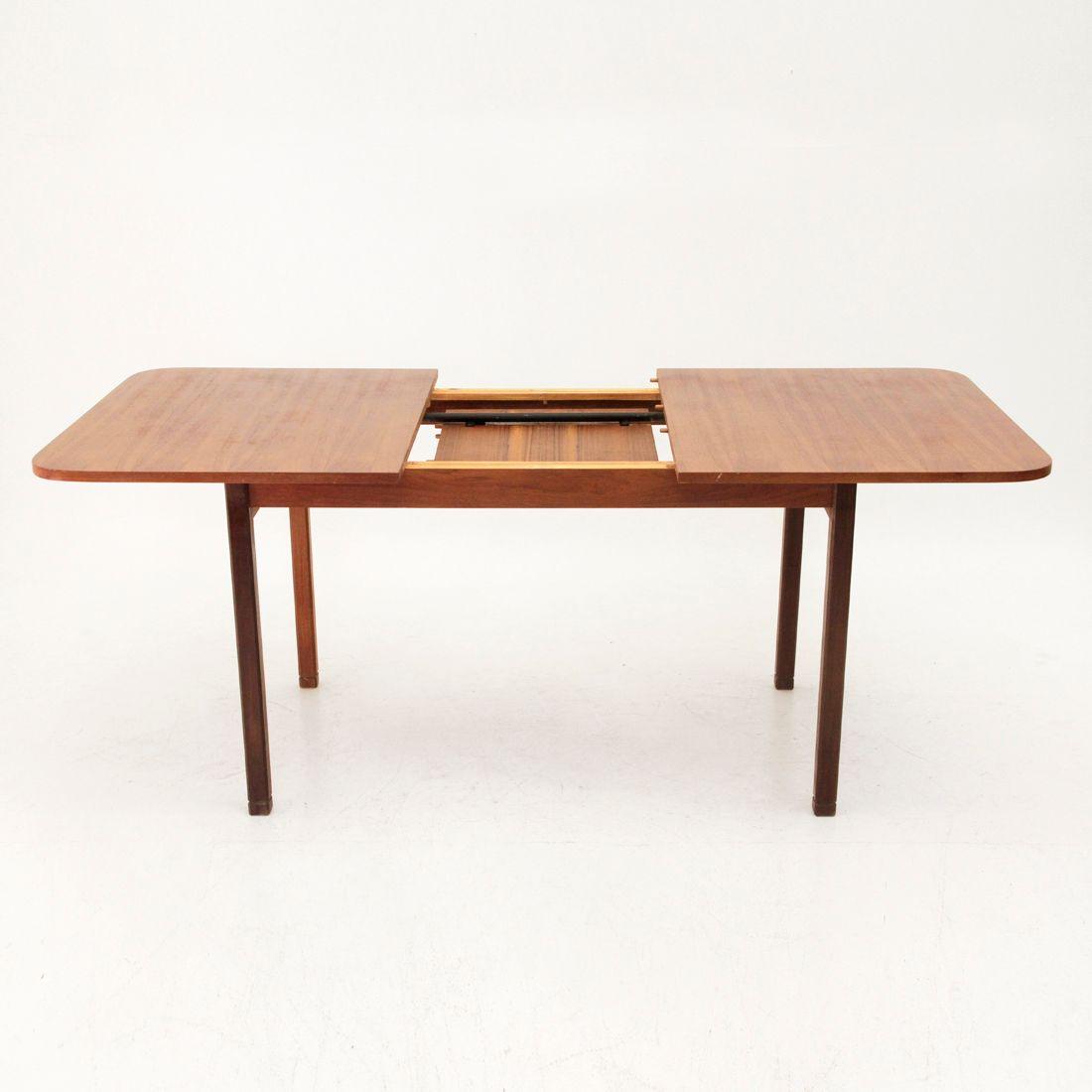 italienischer ausziehbarer esstisch 1960er bei pamono kaufen. Black Bedroom Furniture Sets. Home Design Ideas