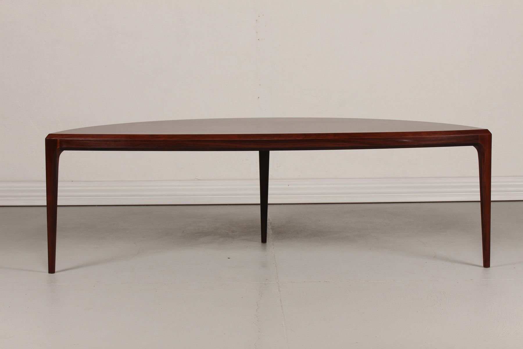 Mid Century Organic Rosewood Coffee Table by Johannes Andersen for
