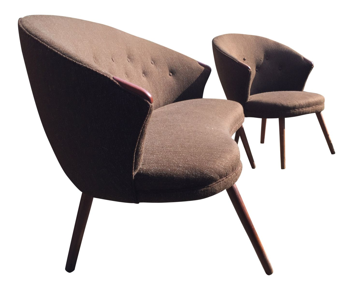 vintage sofa und sessel 1960er bei pamono kaufen. Black Bedroom Furniture Sets. Home Design Ideas