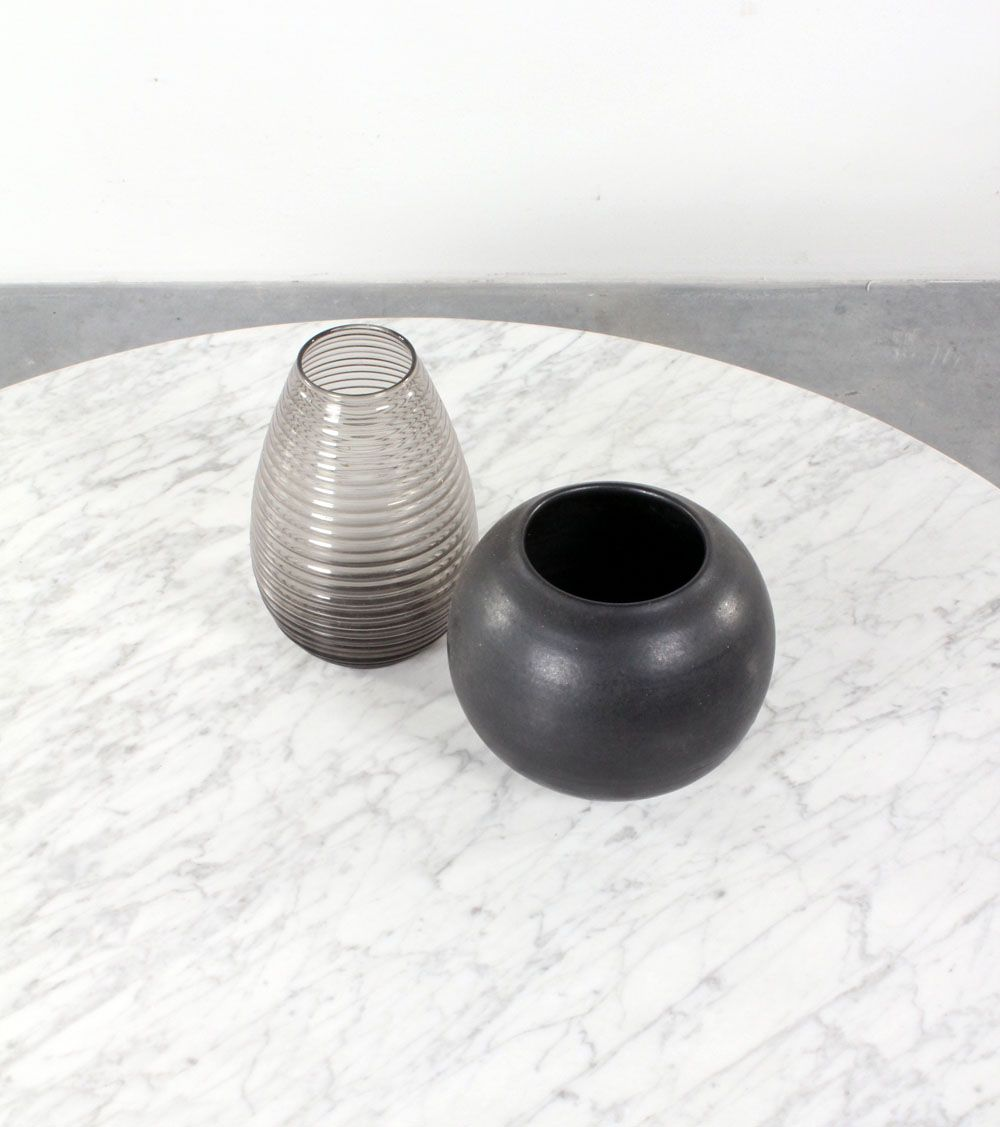 Vintage round marble coffee table for sale at pamono for Vintage round marble coffee table
