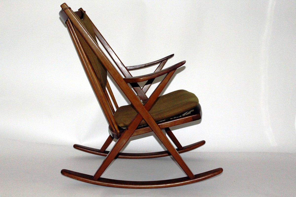 d nischer schaukelstuhl von frank reenshang f r bramin 1960er bei pamono kaufen. Black Bedroom Furniture Sets. Home Design Ideas