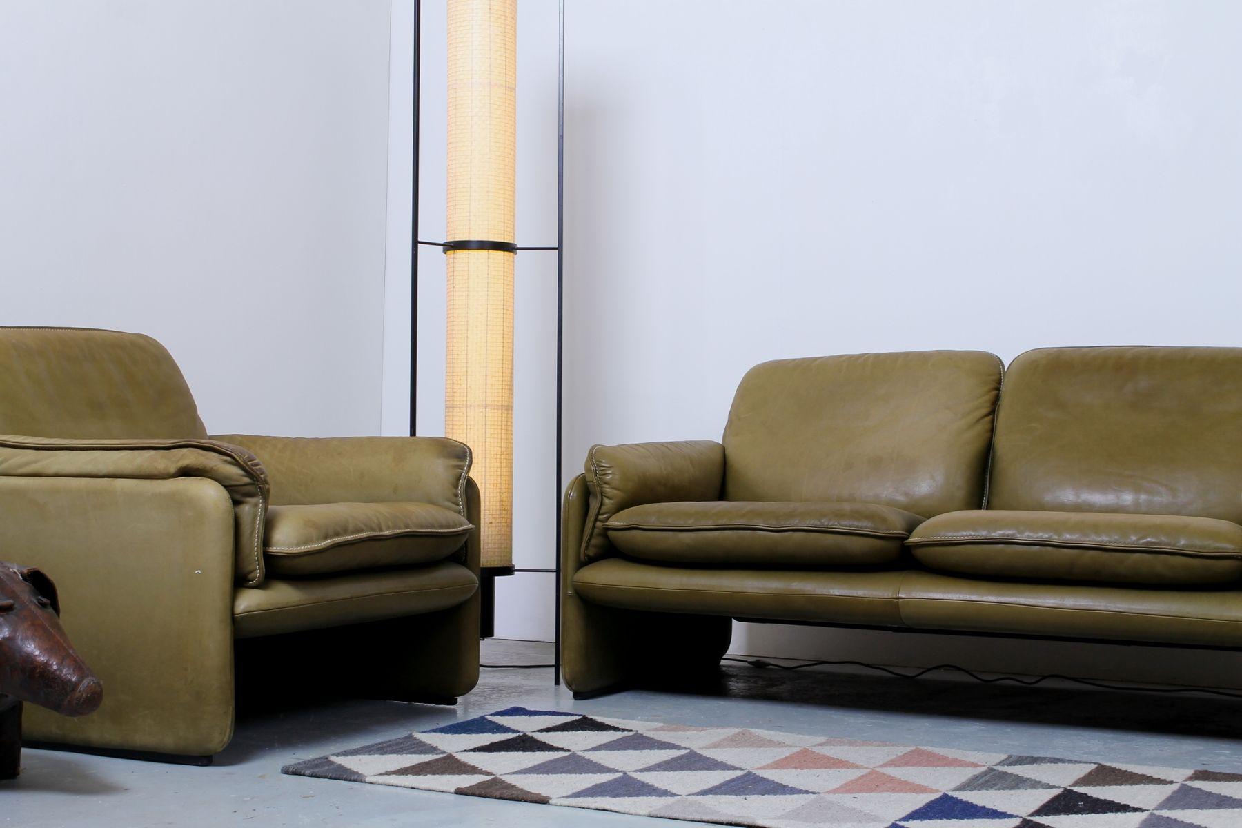 vintage 2 sitzer sofa und ds 61 sessel von de sede bei pamono kaufen. Black Bedroom Furniture Sets. Home Design Ideas
