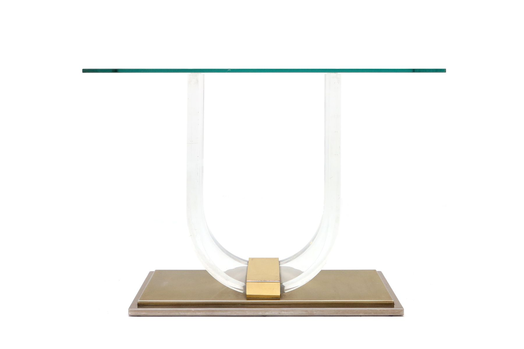 Vintage brass perspex console table from maison jansen 1970s vintage brass perspex console table from maison jansen 1970s for sale at pamono geotapseo Choice Image
