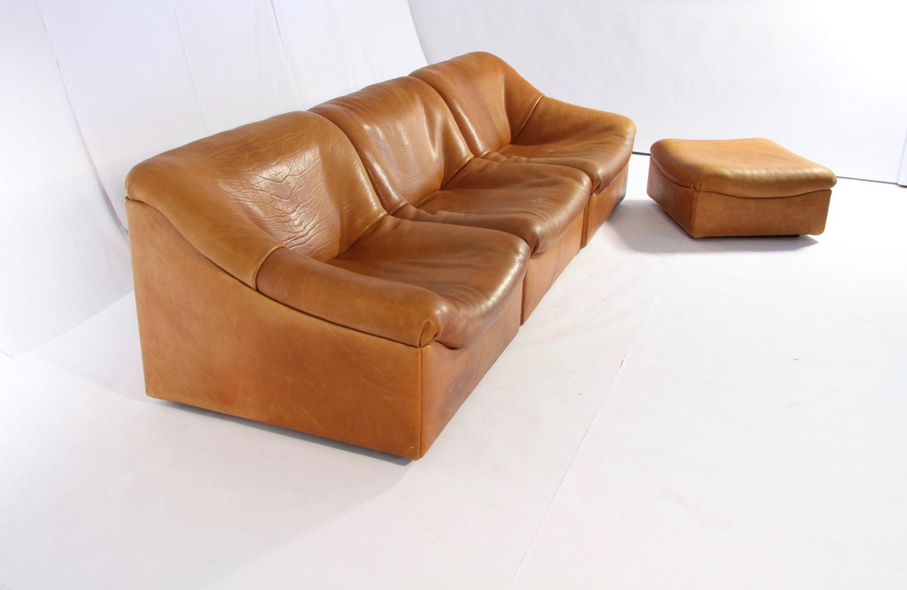 DS 46 Thick Buffalo Leather Lounging Chairs from de Sede 1970s