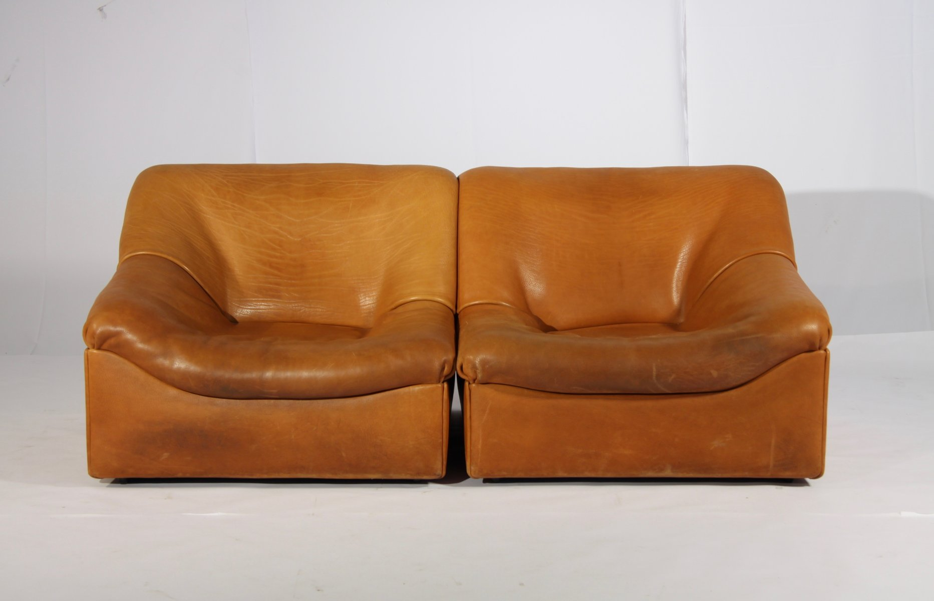 Ds 46 thick buffalo leather lounge chairs from de sede 1970s set of 2 for sale at pamono Sofa bar hamburg