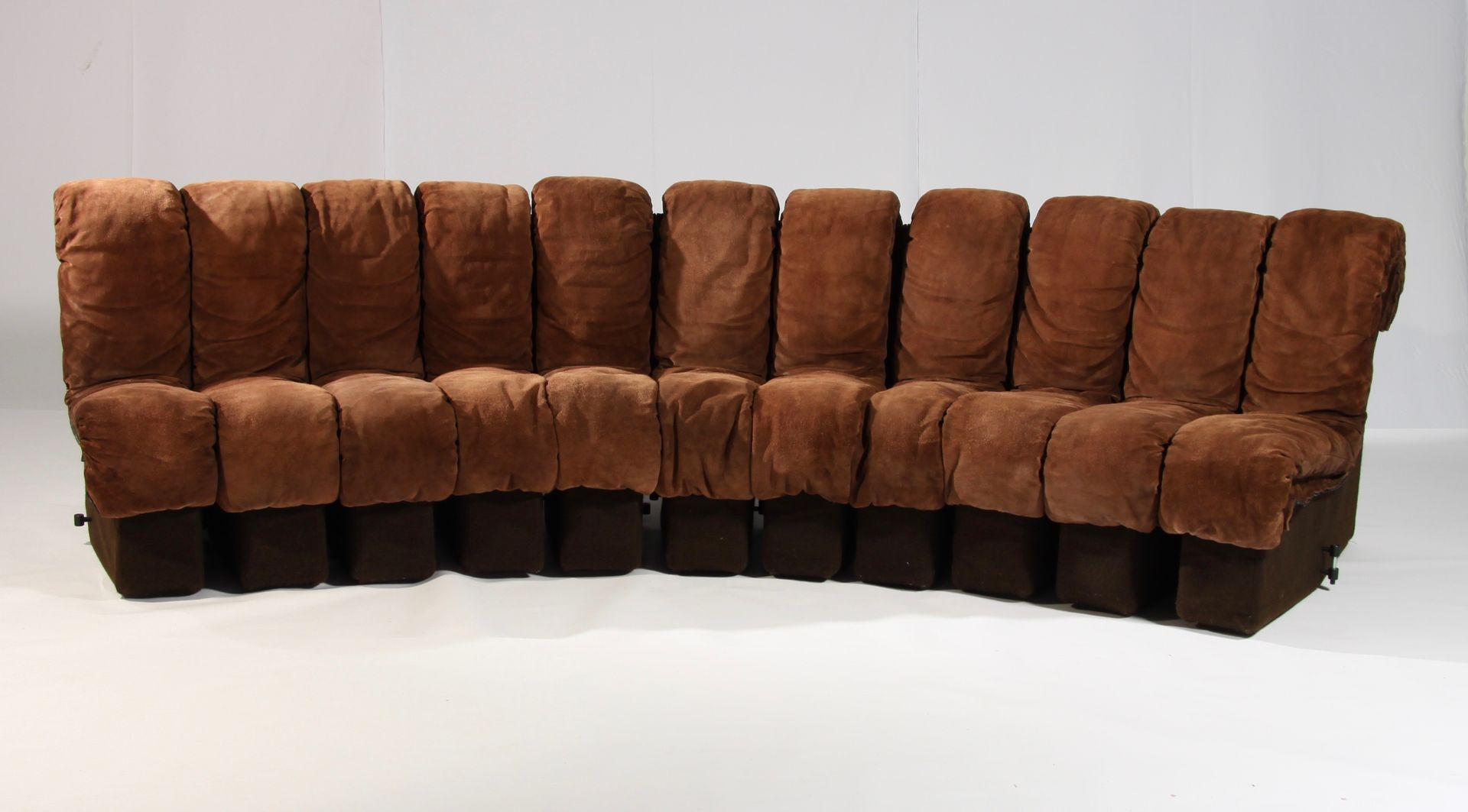 DS 600 Non Stop Modular Sofa in Brown Leather by Berger Ulrich