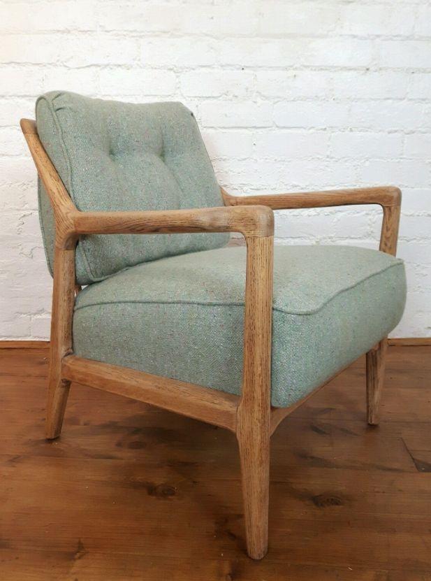 American Oak Arm Chair By Jack Van Der Molen For Jamestown, 1950s
