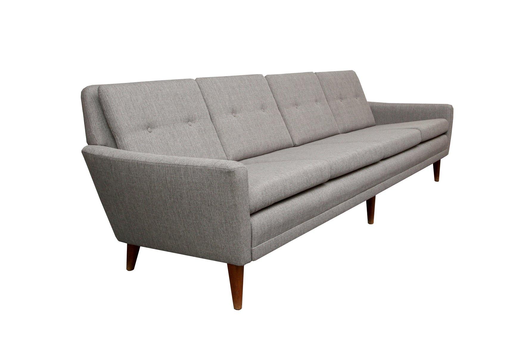 Hellgraues D Nisches Sofa 1950er Bei Pamono Kaufen