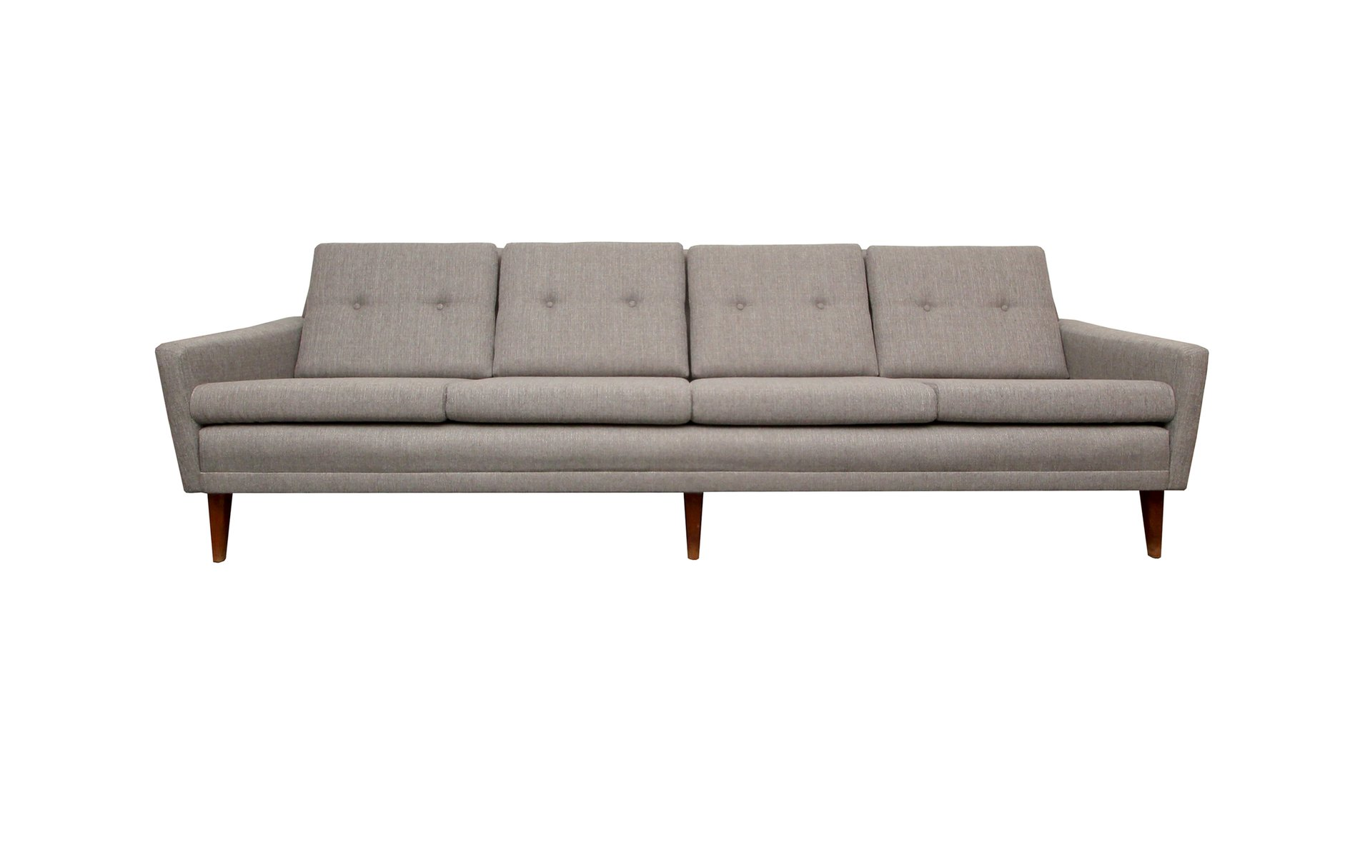 Light Grey Danish Sofa, 1950s