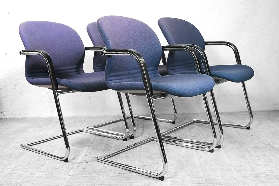 german 216 5 office chairs from wilkhahn 1983 set of 4 for sale at