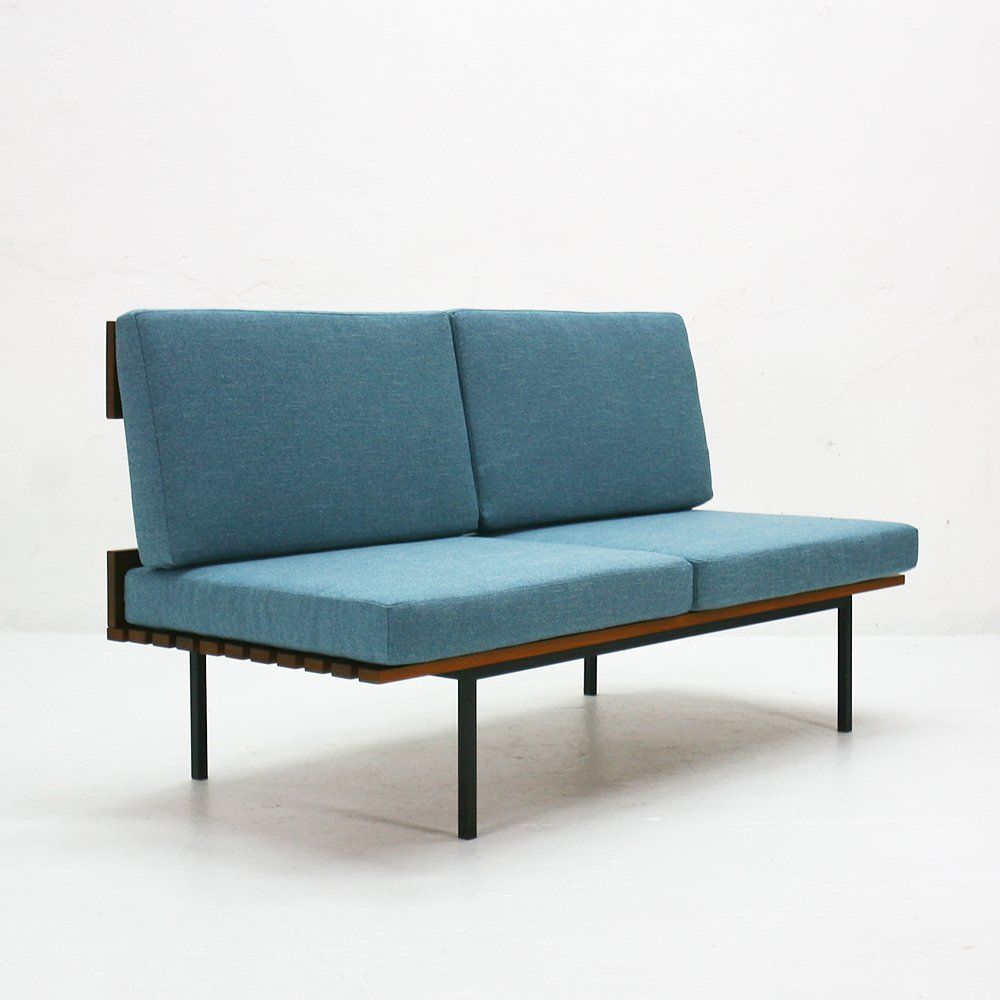 Blue Upholstered Bench 1960s For Sale At Pamono