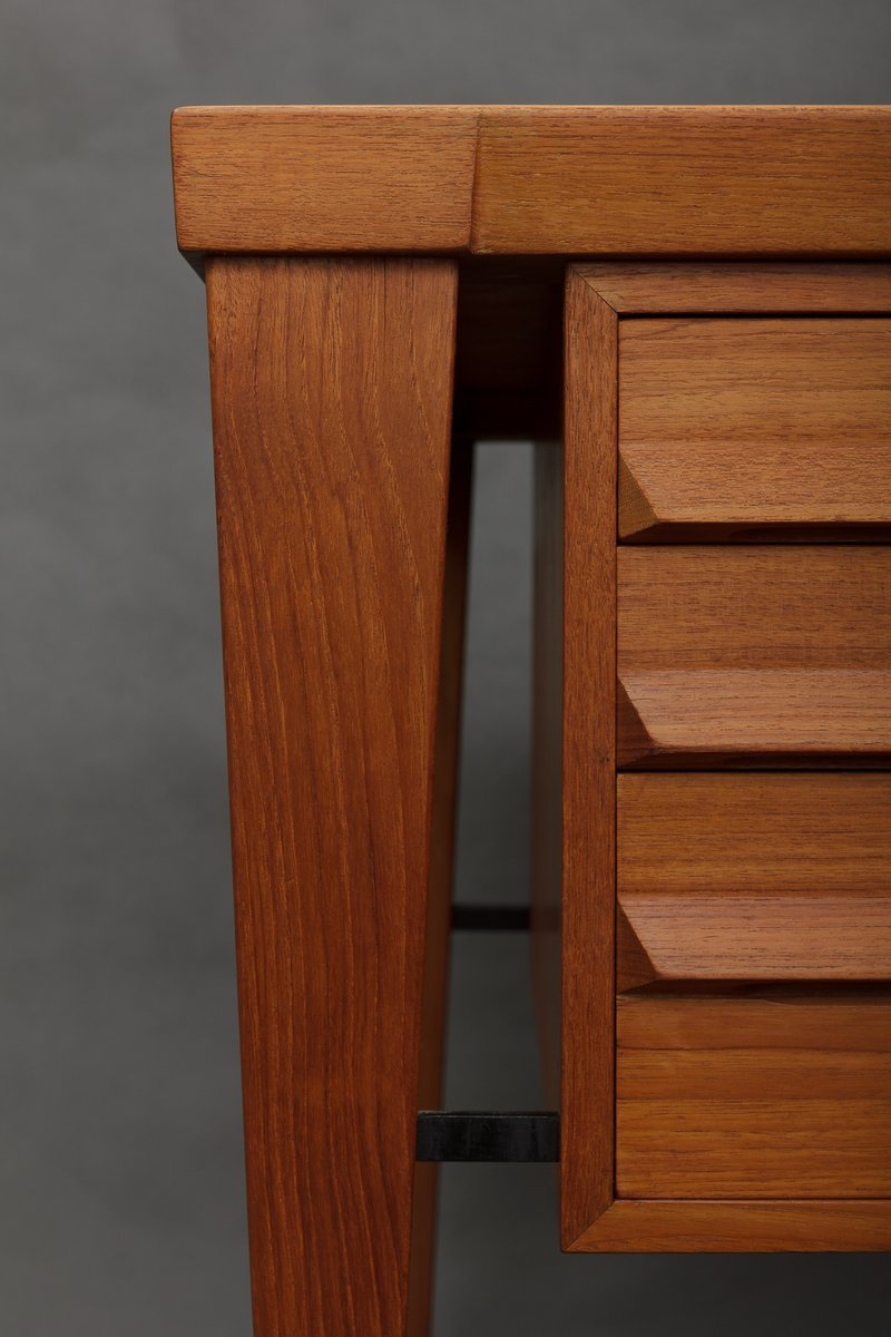 teak schreibtisch von kai kristiansen 1960er bei pamono. Black Bedroom Furniture Sets. Home Design Ideas