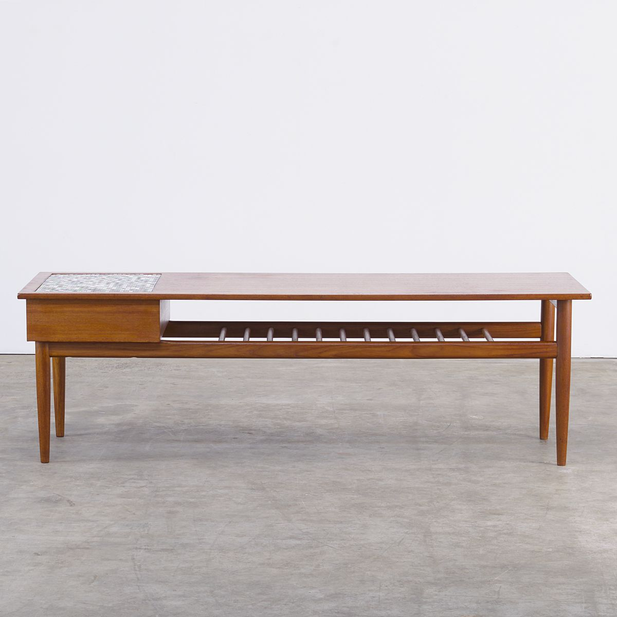 Teak tile coffee table 1960s for sale at pamono for Tile coffee table